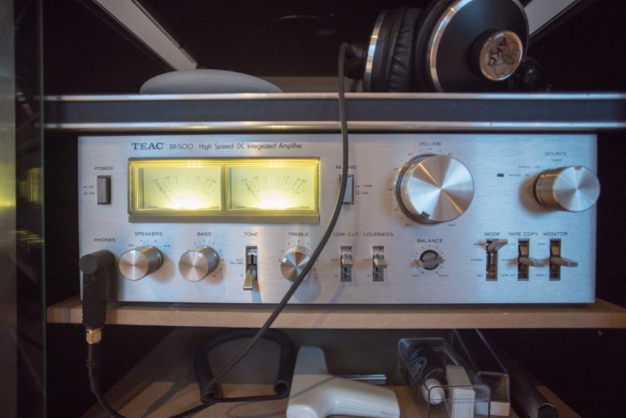 Vintage Stereo Rig - TEAC BX-500 Amplifier view