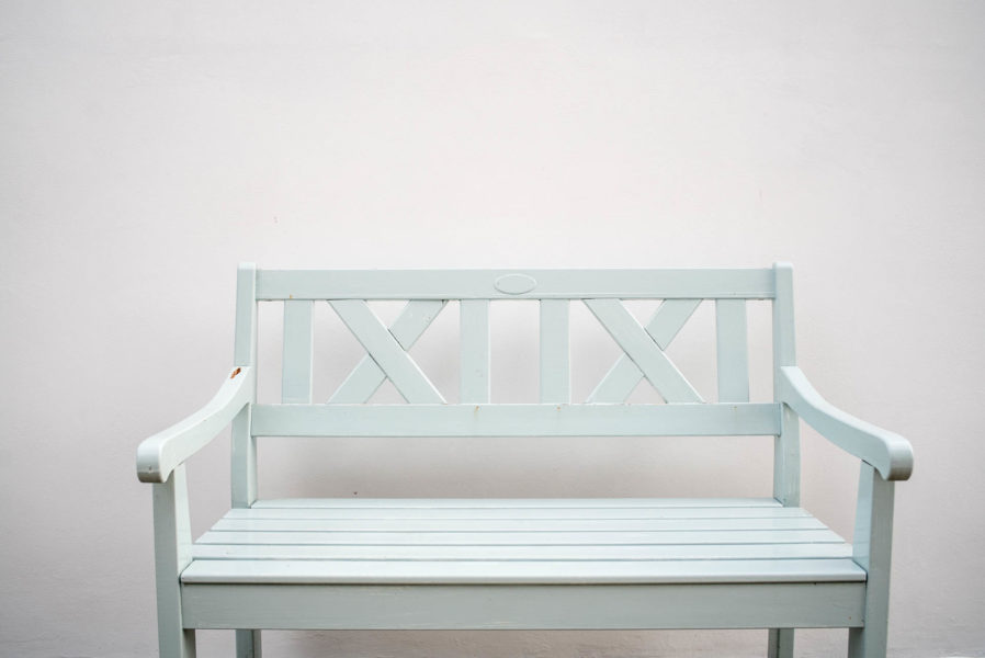 Picture: Sea green porch bench